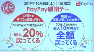 PayPay1周年キャンペーン_還元率内訳