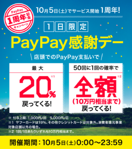 PayPay_1周年記念