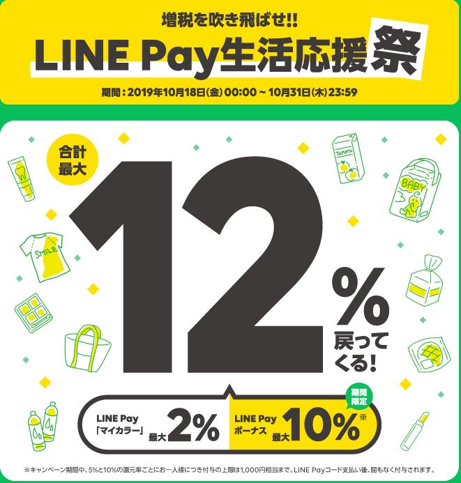 LINEPay生活応援祭_ロゴ