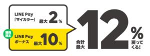 LINEPay生活応援祭_最大還元率12%