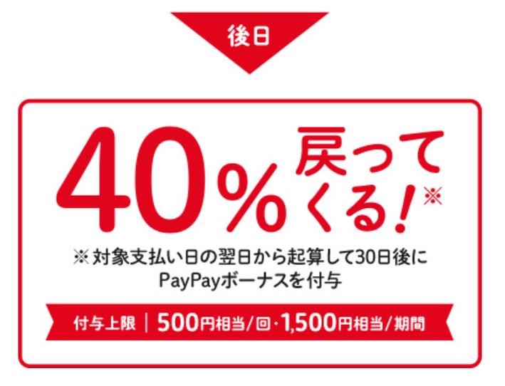 CokeOn_PayPay_40%還元_還元内容