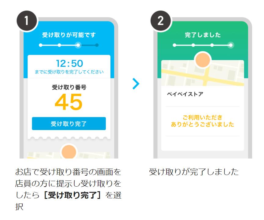 PayPayピックアップ_受け取り方法