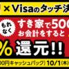 【すき家】Visaタッチ決済で50%還元キャンペーン!お得な裏技も紹介!