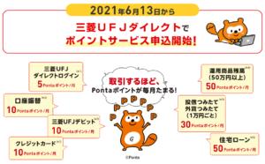 三菱UFJ銀行_Ponta(ポンタ)_ポイントサービス