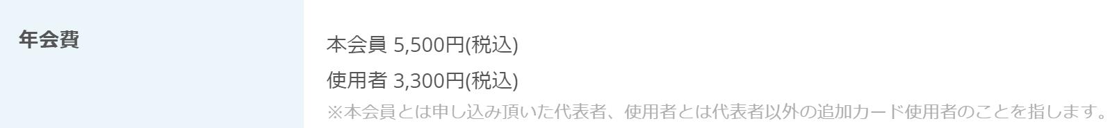 Airカード_年会費