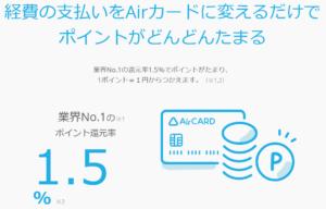 Airカード_還元率