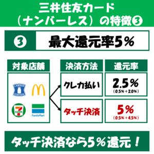 三井住友カード(ナンバーレス)_還元率